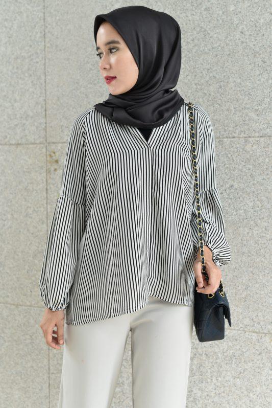 Mea in White Stripe